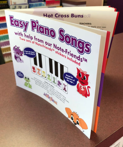 Piano Book for kids with stickers